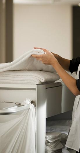 Limpieza diaria y ropa blanca